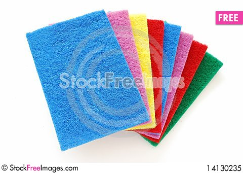 Free Colorful Cleaning Sponges Royalty Free Stock Photo - 14130235