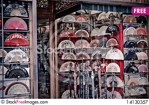 Free Hand Fan Royalty Free Stock Photography - 14130357