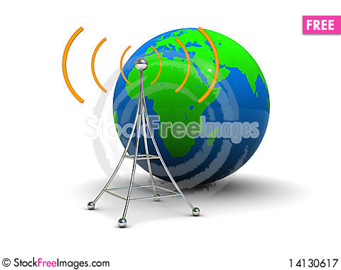 Free Global Broadcasting Royalty Free Stock Photography - 14130617