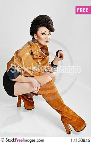 Free Sitting Beauty Asian Royalty Free Stock Image - 14130846
