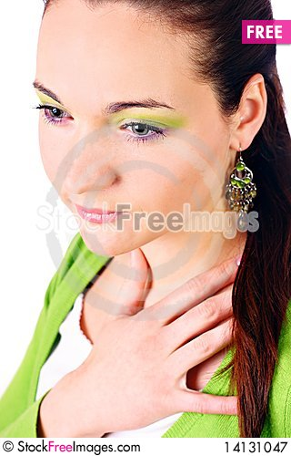 Free Portrait Of Young Beautiful Woman. Royalty Free Stock Photography - 14131047