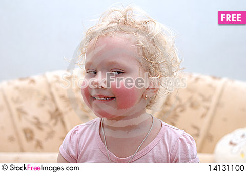 Free Pretty Curly Blond Girl Make Faces. Stock Photo - 14131100