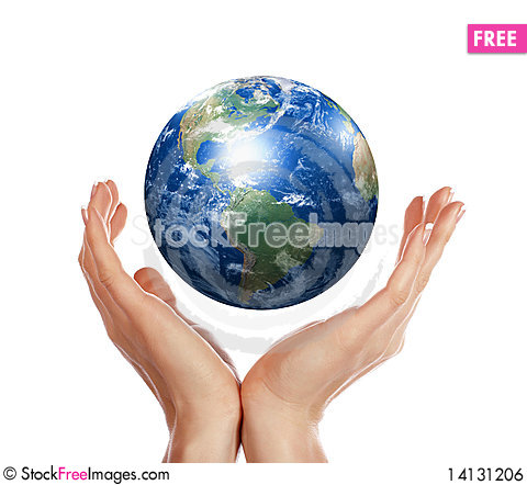 Free Palm And Earth Royalty Free Stock Image - 14131206