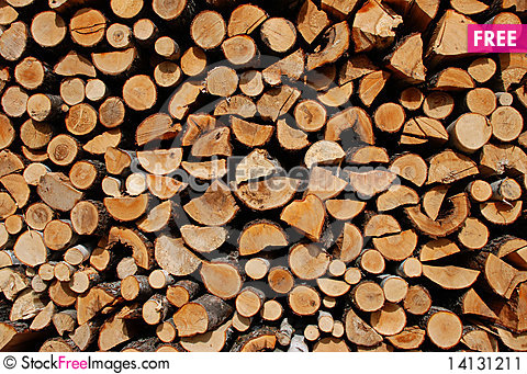 Free Pile Of Wood Stock Image - 14131211