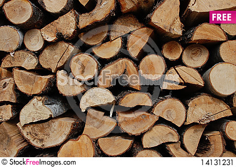 Free Pile Of Wood Stock Image - 14131231