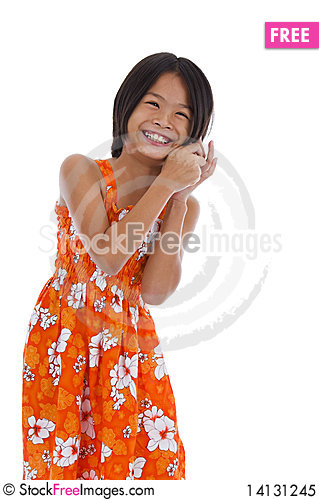 Free Cute Girl On The Phone Royalty Free Stock Photo - 14131245
