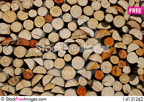Free Pile Of Wood Stock Photography - 14131262