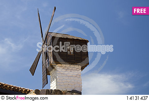 Free Bulgarian Wind Mill Royalty Free Stock Photography - 14131437