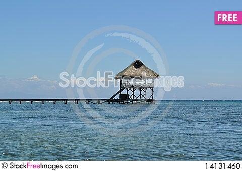 Free Hut On The Pier Stock Photo - 14131460