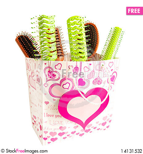 Free Hairbrushes In A Package Stock Photography - 14131532
