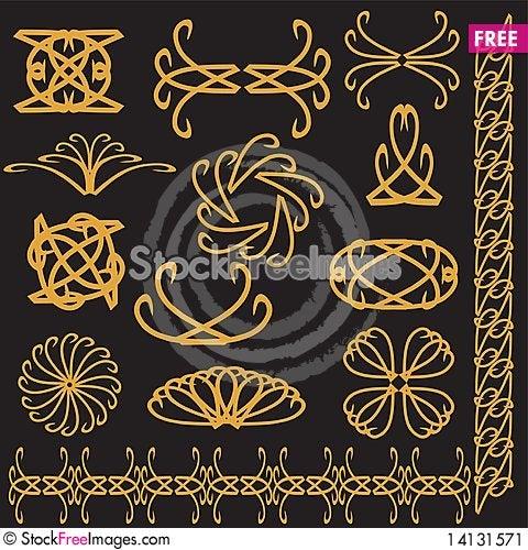 Free Set Of Decor Elements Stock Image - 14131571