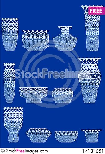 Free Ware From Cut Glass. Stock Image - 14131651