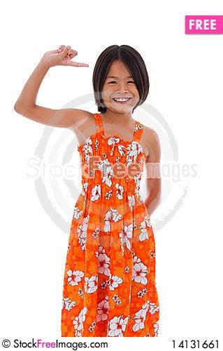 Free Cute Asian Girl Stock Image - 14131661