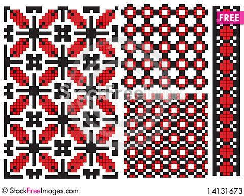 Free Texture Ukrainian Embroidery Element Stock Photos - 14131673