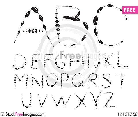 Free Stylish Alphabet Royalty Free Stock Photos - 14131758