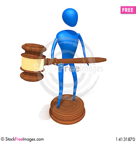 Free Person Hold Gavel Stock Photo - 14131870