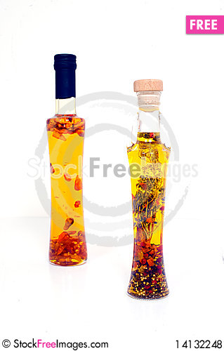 Free Decorative Bottles With Oil Royalty Free Stock Photos - 14132248