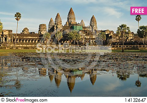 Free Angkor Wat 490 Royalty Free Stock Photography - 14132647