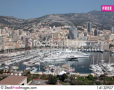 Free Harbour At Monte Carlo Royalty Free Stock Photography - 14132907