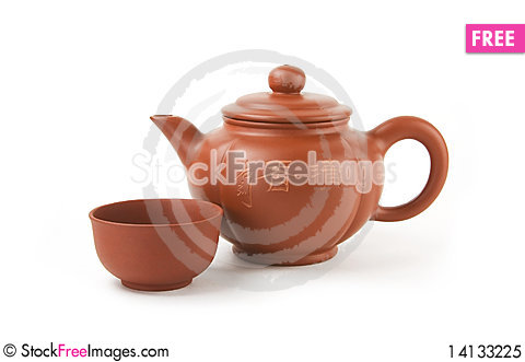 Free Chinese Teapot And Cup Royalty Free Stock Photo - 14133225