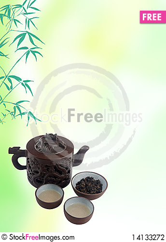 Free Chinese Tea Template Stock Photography - 14133272