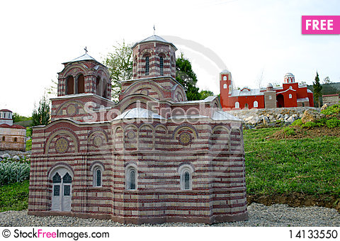 Free Serbian Orthodox Monastery Miniature Stock Photo - 14133550