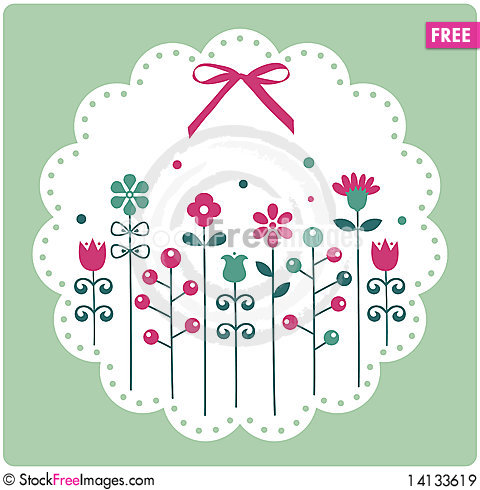 Free Floral Card ,  Illustration Royalty Free Stock Images - 14133619
