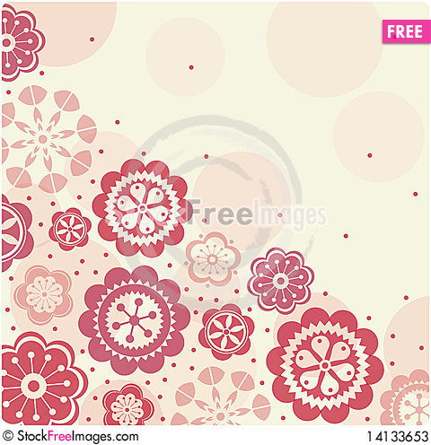 Free Floral Card ,  Illustration Stock Photos - 14133653