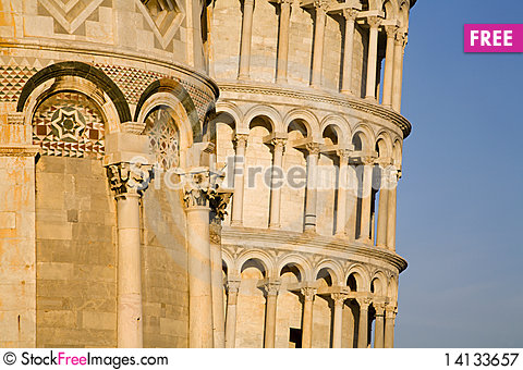 Free Pisa - Detail From Cathedral And Hangind Tower Royalty Free Stock Photography - 14133657