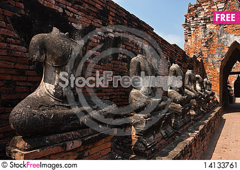 Free The Buddha Of Wat Chai Wattanaram Stock Image - 14133761