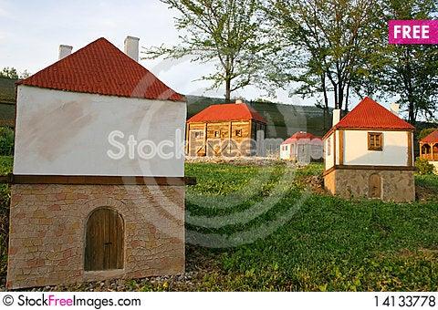 Free Miniature Of Serbian Native Village Royalty Free Stock Photos - 14133778