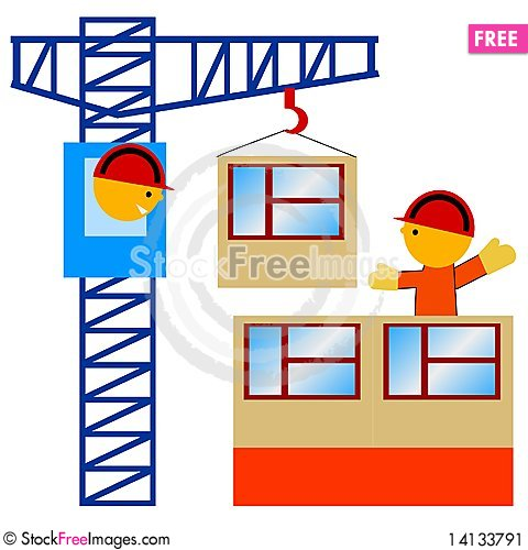 Free On The Construction Stock Image - 14133791