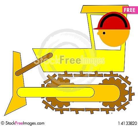 Free Bulldozer Driver Stock Photo - 14133820
