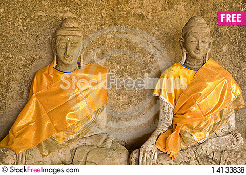 Free Statue Of Two Buddha Royalty Free Stock Photos - 14133838