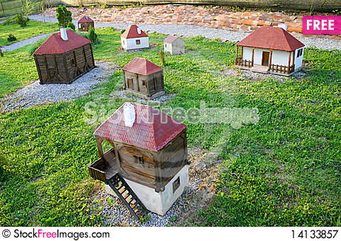 Free Miniature Of Serbian Native Village Royalty Free Stock Photography - 14133857