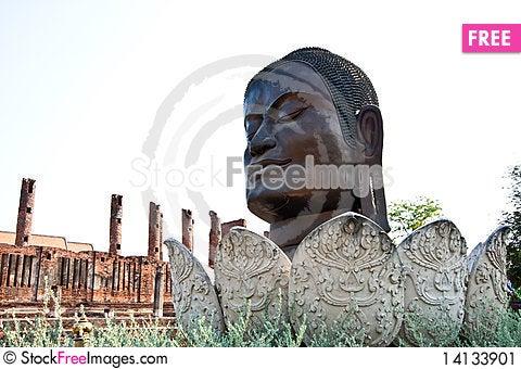 Free The Head Of Buddha Stock Image - 14133901
