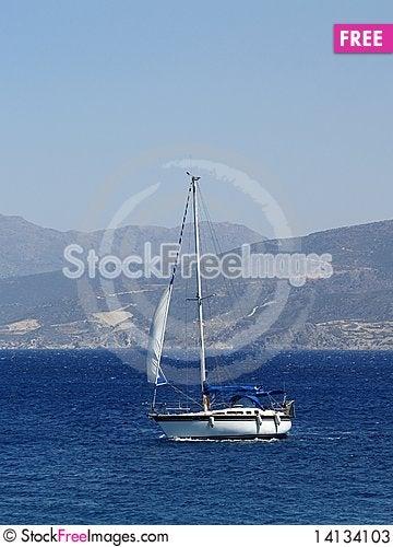 Free Sail Boat On The Sea Stock Photos - 14134103