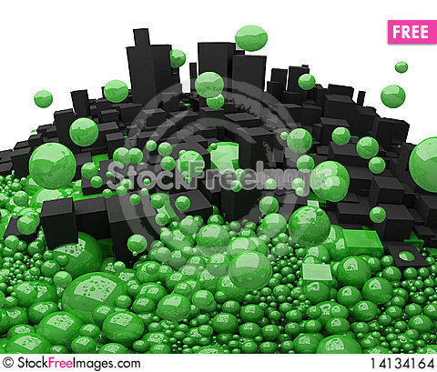 Free Boxes And Spheres Stock Images - 14134164