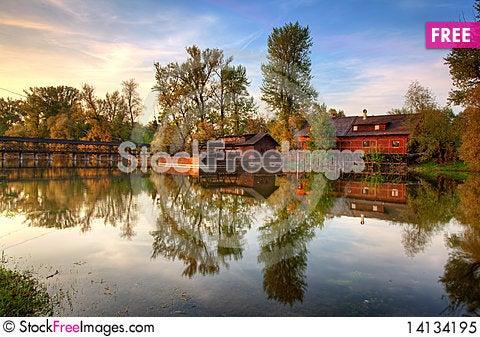 Free Historic Watermill  - Kolarovo Royalty Free Stock Photo - 14134195