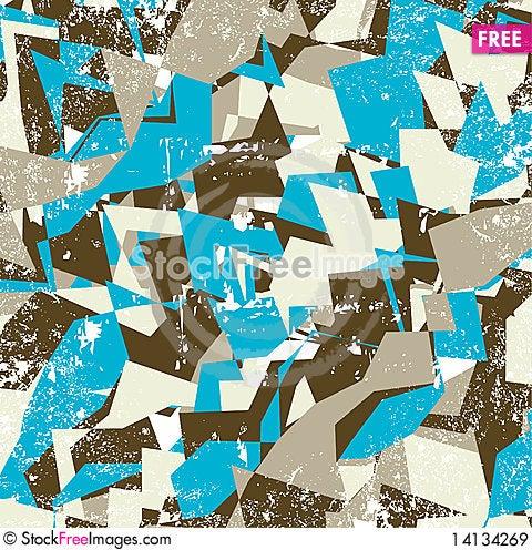 Free Grungy Geometric Background Illustration Royalty Free Stock Images - 14134269