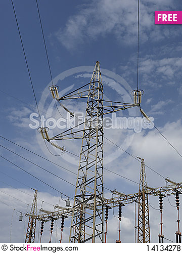 Free Electrical Tower Royalty Free Stock Photos - 14134278