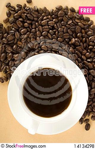 Free Black Coffee Royalty Free Stock Photos - 14134298