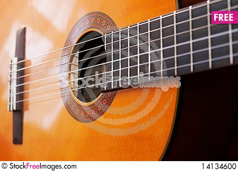 Free Classical Acoustic Guitar Stock Photo - 14134600