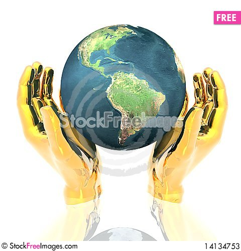 Free Hands With Earth Stock Photos - 14134753