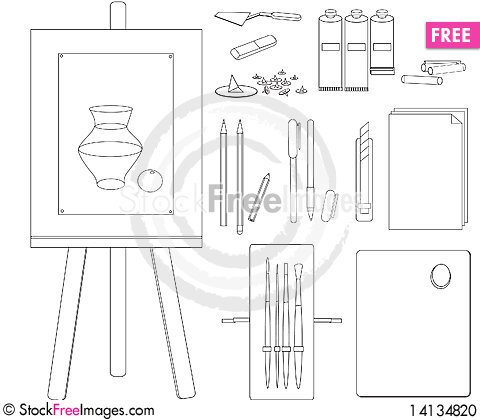 Free Attributes Of Artist Stock Photo - 14134820