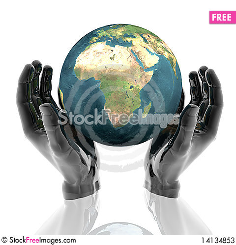 Free Hands With Earth Stock Photos - 14134853