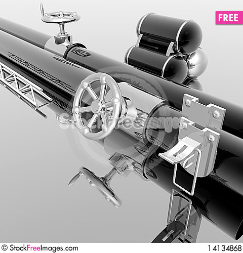 Free Metallic Tubes With Hand Crank Royalty Free Stock Photos - 14134868