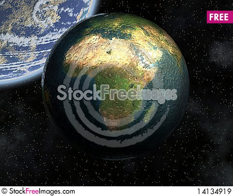 Free Earth In Space Royalty Free Stock Images - 14134919