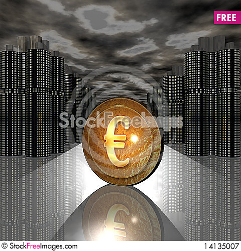 Free Golden Coin Royalty Free Stock Photography - 14135007