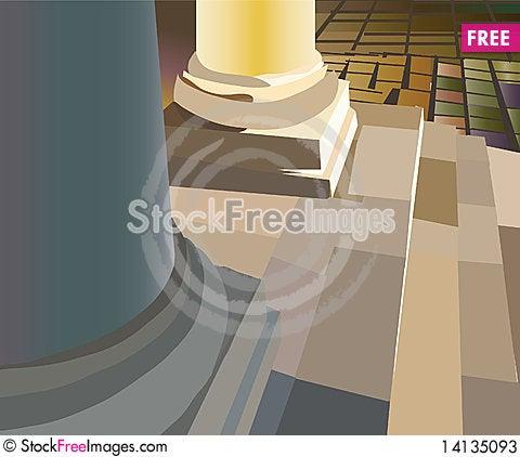 Free Bottom Of Round Column Stock Photos - 14135093